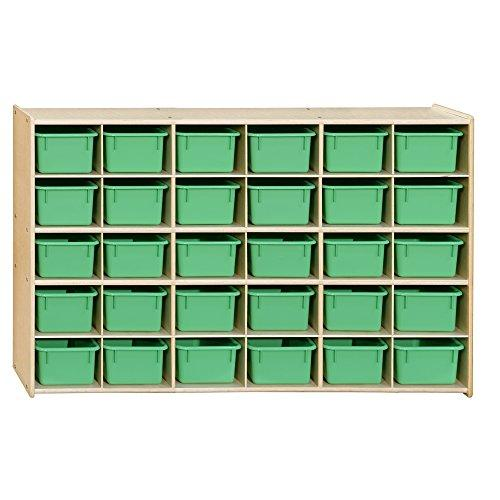 Contender  30 Tray Storage with Lime Green Trays - RTA [Item # C16039LG]