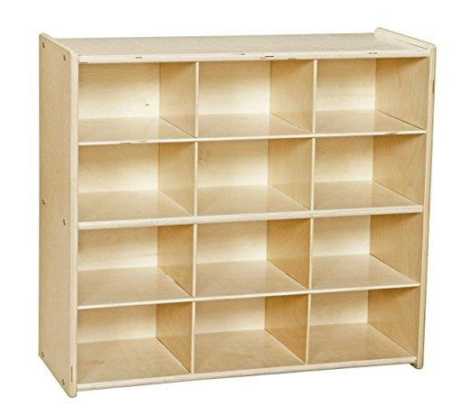 Contender Baltic Birch 12-Cubby Storage Unit w/out Tubs - Assembled