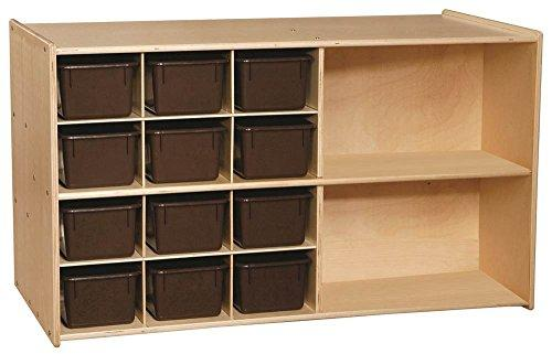 Contender Double Storage with (12) Brown Trays  - Assembled