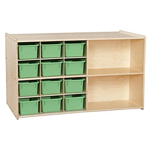 Contender Double Storage with (12) Lime Green Trays - RTA