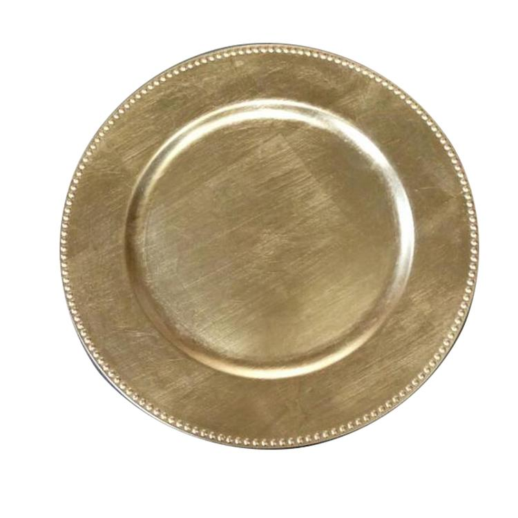 Benzara Gold Charger Plate 24-Piece - Set of 2