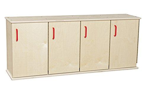 Contender Four-Section Stackable Lockers w/ Doors - RTA [Item # C46300]