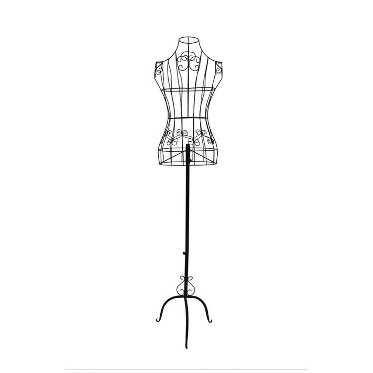 Benzara Benzara Wire Frame Metal Mannequin Display Stand With Adjustable Height
