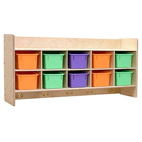 Contender Wall Hanging Storage with (10) Assorted Pastel Trays - RTA