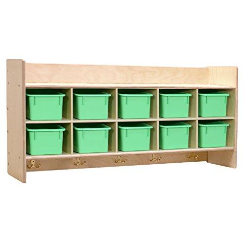 Contender?  Wall Hanging Storage with Lime Green Trays - RTA