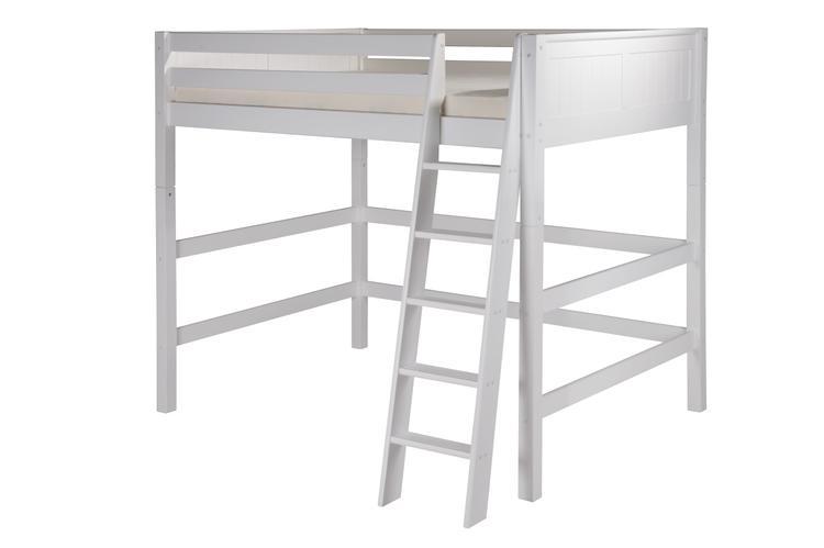Camaflexi Full Size High Loft Bed - Panel Headboard