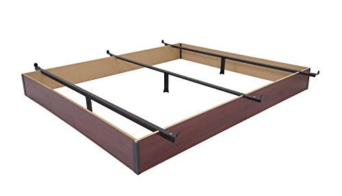 Mantua Cherry Finish Wood Bed Base, Queen