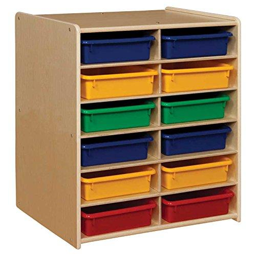 Contender 12 Letter Tray Cubby Storage with Assorted Trays - RTA