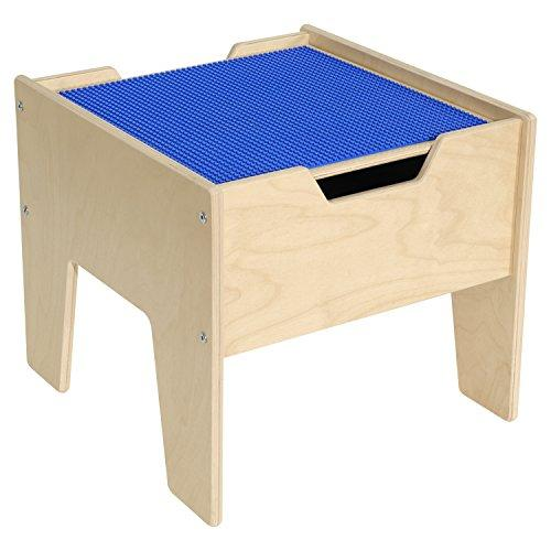 Contender 2-N-1 Activity Table with Blue LEGO Compatible Top - RTA [Item # C991300-B]