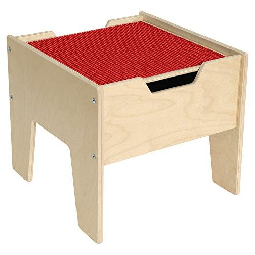 Contender? 2-N-1 Activity Table with Red LEGO? Compatible Top - RTA