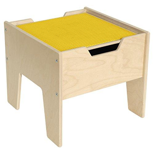 Contender 2-N-1 Activity Table with Yellow LEGO Compatible Top - RTA [Item # C991300-Y]