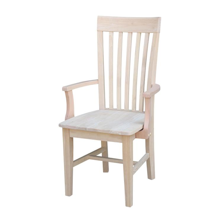 International Concepts Tall Mission Chair with Arms