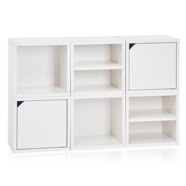 Way Basics Eco Stackable Connect Storage Unit [Item # C-6CUBE-WE]