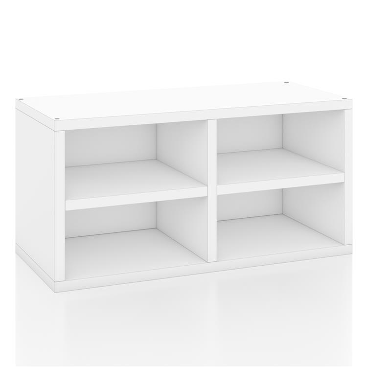 Way Basics zBoard Stackable Rectangle Bookcase with Shelf