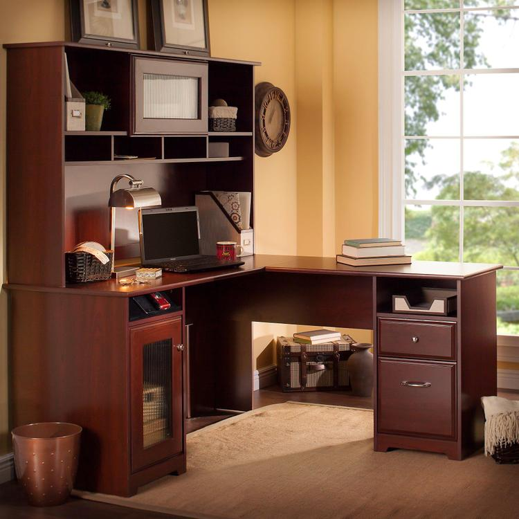 Bush Furniture Cabot L Shaped Desk With Hutch