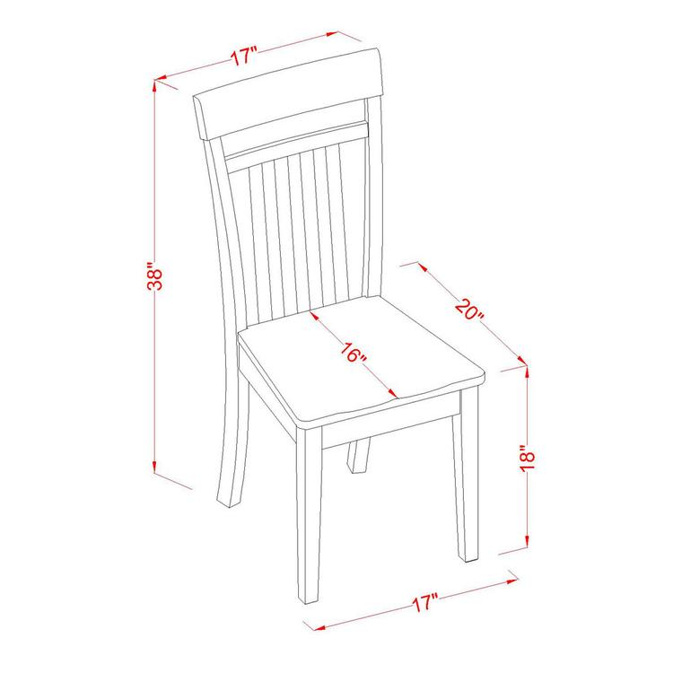 Kitchen Nook Dining Set-Dining Table And Dinette Chairs [Item # HLCA3-MAH-W]