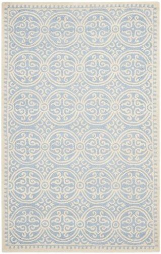 Contemporary Rug - Cambridge Wool Pile -Light Blue/Ivory Style-B
