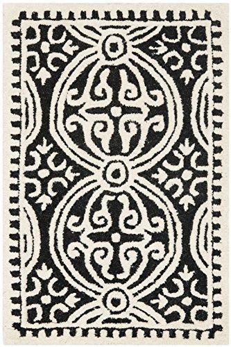 Contemporary Rug - Cambridge Wool Pile -Black/Ivory Style-B