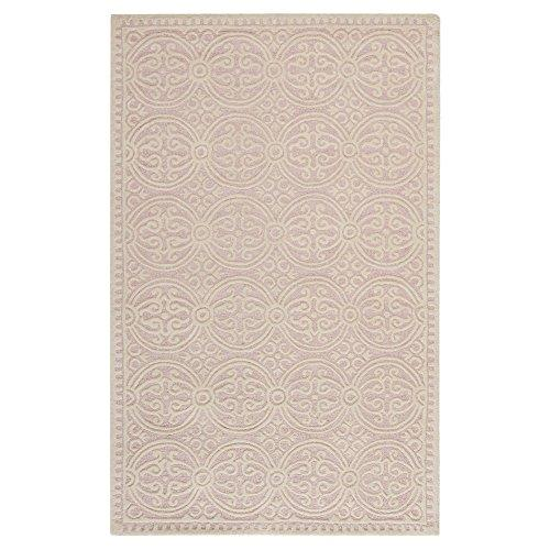 Contemporary Rug - Cambridge Wool Pile -Light Pink/Ivory Style-B