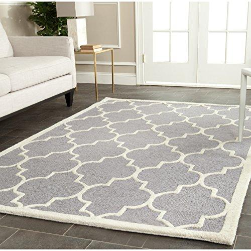 Contemporary Rug - Cambridge Wool Pile -Silver/Ivory Style-G