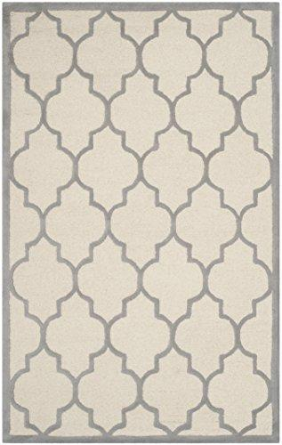 Contemporary Rug - Cambridge Wool Pile -Ivory/Silver Style-B