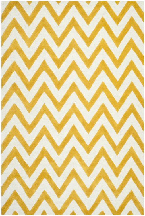 Contemporary Rug - Cambridge -Gold/Ivory