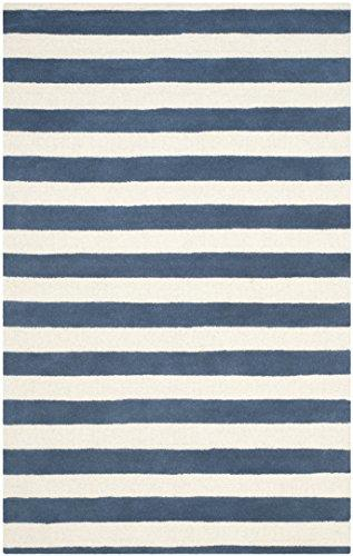 Contemporary Rug - Cambridge Wool Pile -Navy/Ivory Style-A