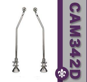 Clawfoot Tub Wall Mount Supply Lines-Polished Chrome
