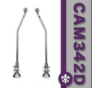 Clawfoot Tub Wall Mount Supply Lines-Oil Rubbed Bronze