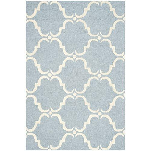 Cambridge Teal/Ivory Large Rectangle Rug