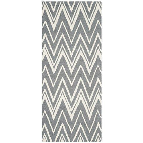 Cambridge Wool Pile -Dark Grey/Ivory