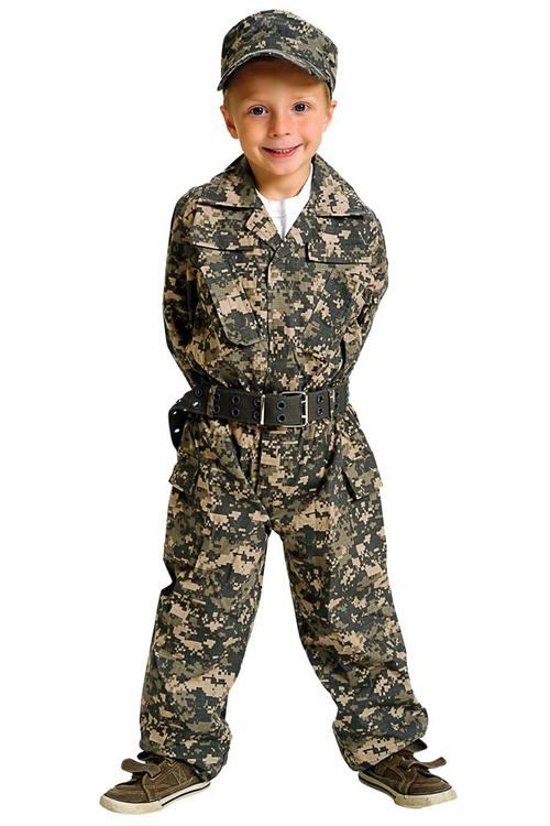 Jr. Camouflage Suit w/Cap & Belt, size 4/6
