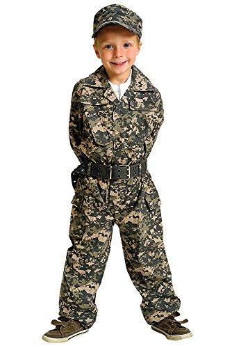 Jr. Camouflage Suit w/Cap & Belt, size 8/10