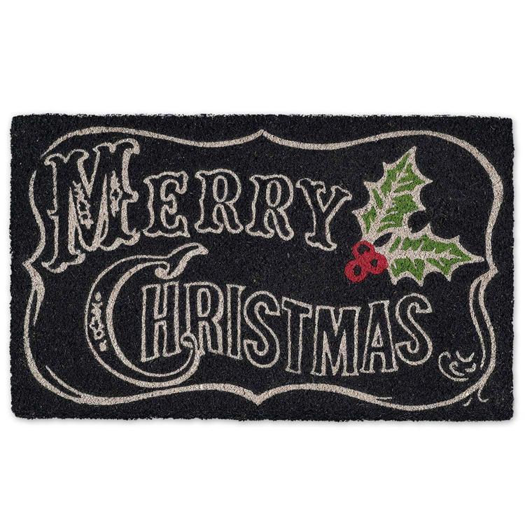 Merry Xmas Chalkboard Doormat