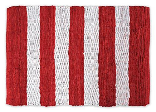 Rag Rug Red/White Stripe  4X6'