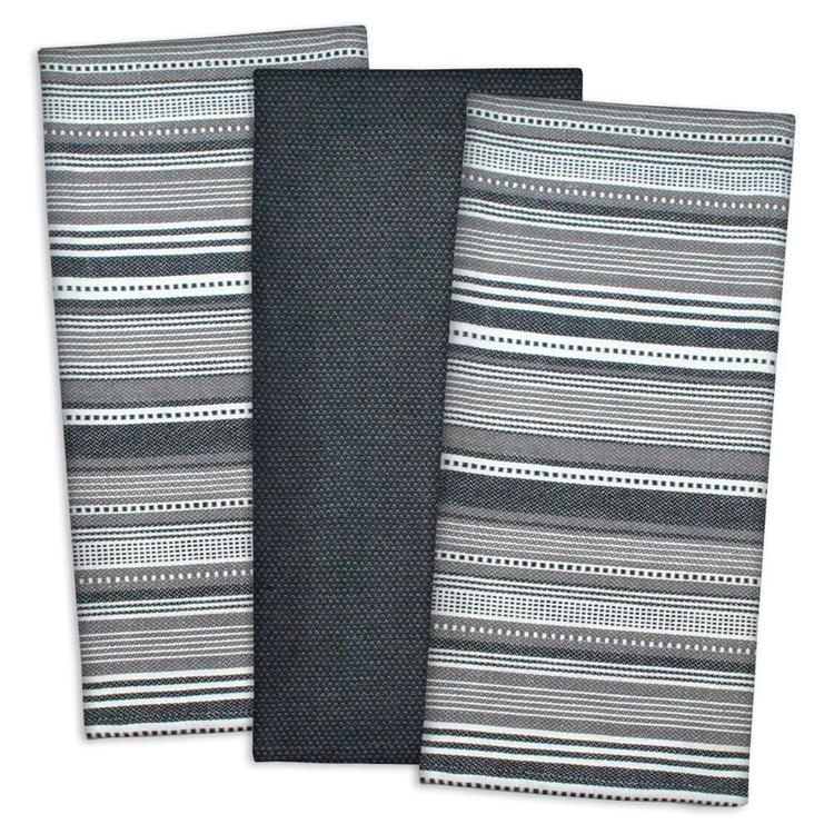 Nautical Blue Urban Stripe Dishtowel Set/3 [Item # CAMZ33407]