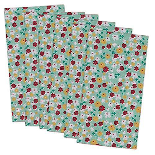 Napkin Blossom Print S/6