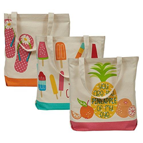 Canvas Bags Pool Party S/3