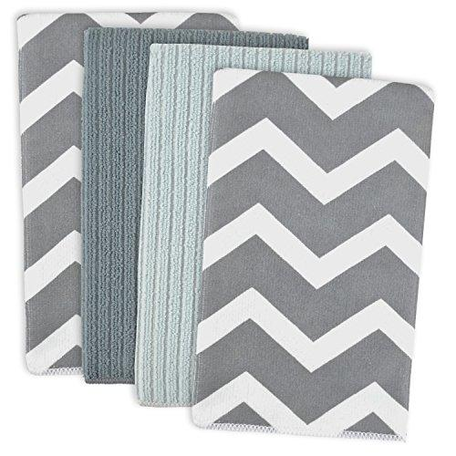 Gray Chevron Mf Dishtowel Set/4