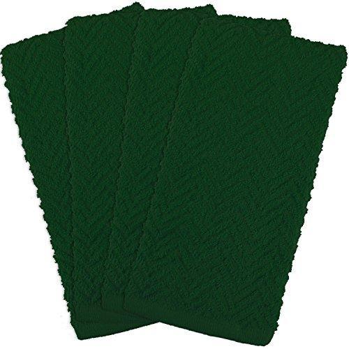 Zigzag Dark Green Dt S/4