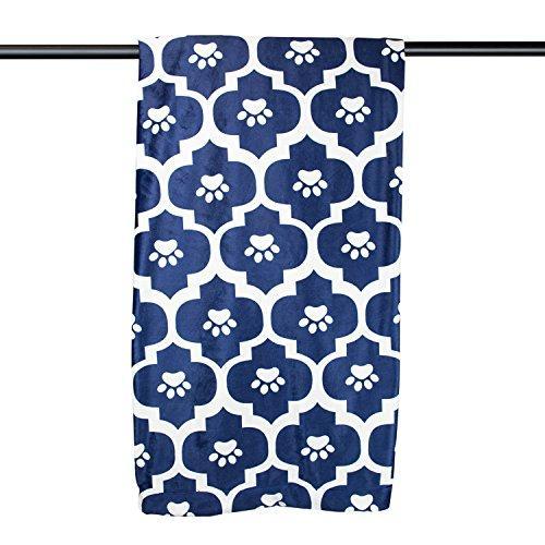 Pet Blanket Moroccan Blue Medium