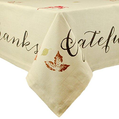 Rustic Leaves Print Tablecloth 60X84