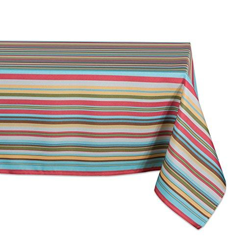 Design Imports Summer Stripe Outdoor Tablecloth 60X120