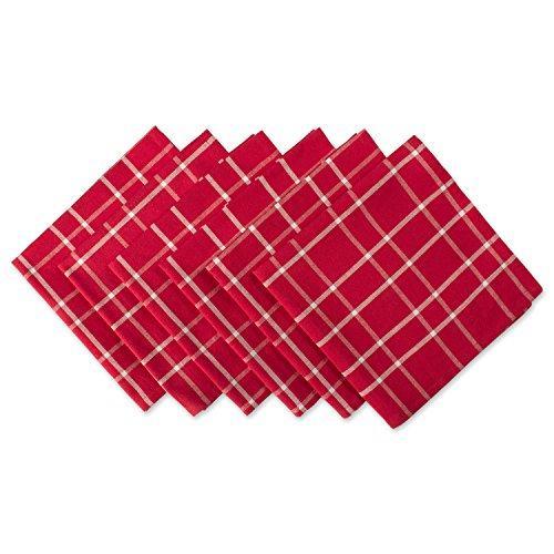 Design Imports Holly Berry Plaid Napkin Set Of 6