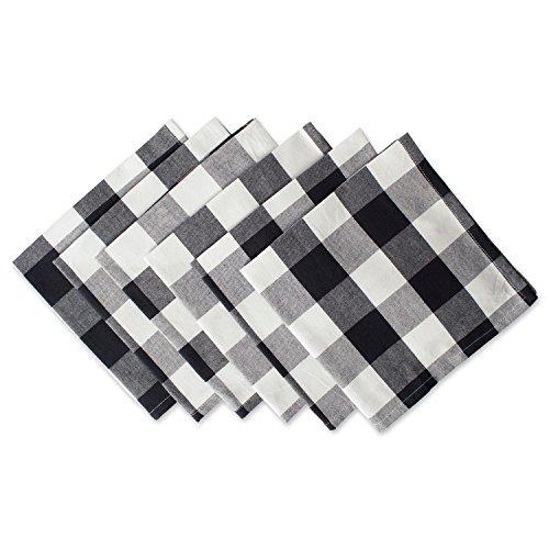 Design Imports Black Buffalo Check Napkin Set Of 6