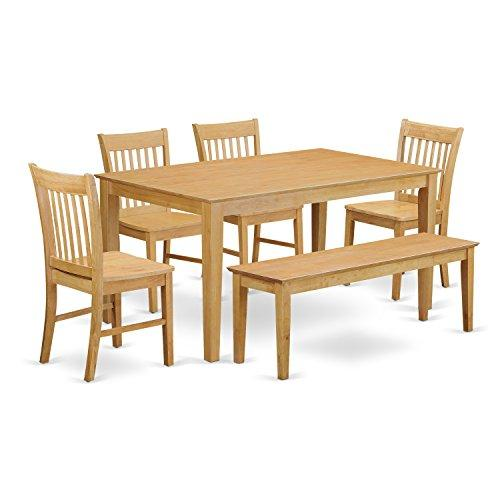 Dining Room Set With Bench- Dining Table And 4 Chairs And Bench
