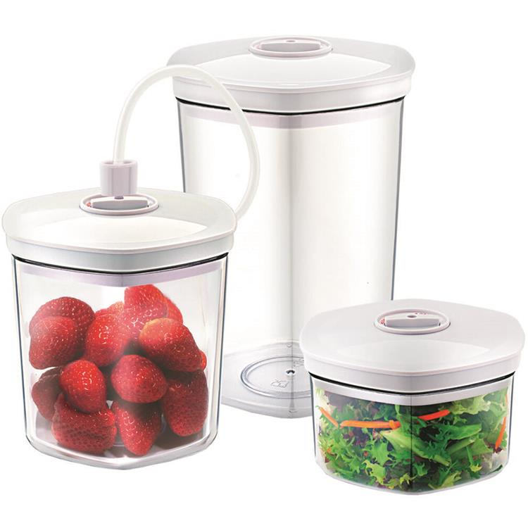 Caso Food Vacuum Canister Set with Food Management App