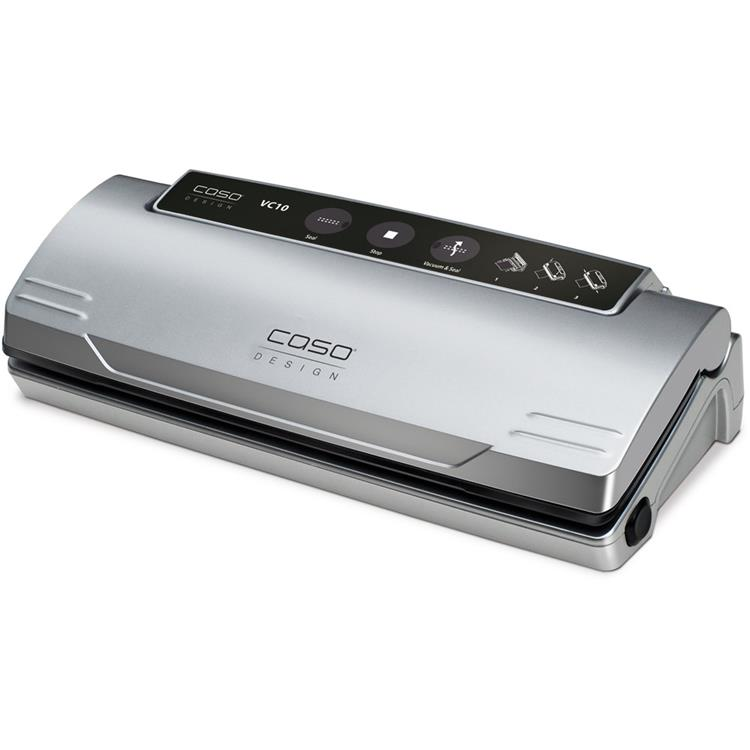 Caso VC 10 Food Vacuum Sealer with Food Management App and Set of 2 Food Vacuum Rolls