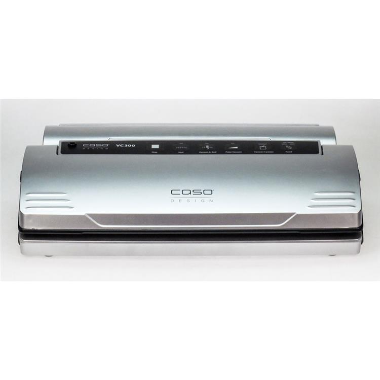 Caso VC 300 Food Vacuum Sealer All-in-One System with Food Management App plus Set of Food Vacuum Bags and Rolls