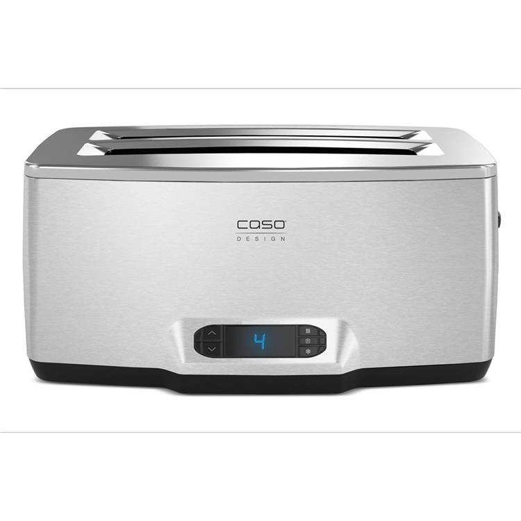 Caso Inox 4 Four-Slice Toaster with Wire Warming Basket Attachment